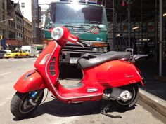 Nice scooter, in red! (NYC)