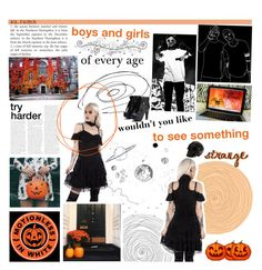"""""""everyone hail to the pumpkin song"""" by queenrowan ❤ liked on Polyvore featuring GET LOST, Killstar, Sebastian Professional and D.L. & Co."""