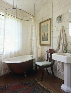 Simple bathroom and clawfoot tub