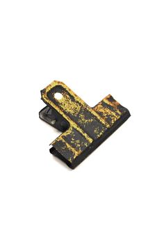"These decorative and strong clips have so many uses. Clip photos or artwork to a wall, cleverly close bags or organize papers on your desk — the possibilities are endless. Clips are coated with black and gold enamel to create the perfect distressed appearance. Makes a wonderful addition to your home or office.    Measures - 3.5""W x 3.5""    Black Gold Wall Clip by Fiddleheads Home & Garden. Home & Gifts - Home Decor - Decorative Objects Washington"