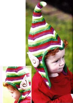 I am going to knit these elf ears from the book Fun and Fantastical Hats to Knit: Animals, Monsters & Other Favorites for Kids and Grownups and pop them on a headband! If these look like something you or someone. Christmas Knitting Patterns, Baby Knitting Patterns, Baby Patterns, Elf Hat With Ears, Elf Ears, Knitting For Kids, Knitting Projects, Knitted Dolls, Knitted Hats