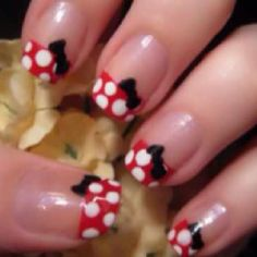 mini mouse, nail, birthday parties, disney trips, disney vacations, minnie mouse, bow, dot, minni mous