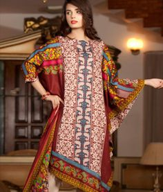 Pakistani Lawn and Chiffon Dresses 2019 are Available on Market Price.