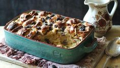 Use up any Easter leftovers in a Hot cross bun bread and butter pudding.