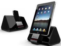 Portable pico projector and dock for iPhone, iPad.