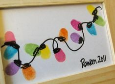 fingerprint christmas lights crafts | Fingerprint Christmas lights. What a cute kids craft!!! :)