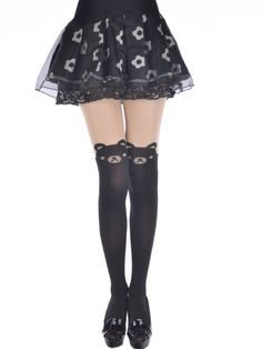38328423be5 ADORABLE TEDDY BEAR ANIMAL THEMED TIGHTS OVER THE KNEE THIGH HIGH Tattoo  Tights