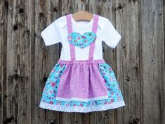 Baby's first dirndl, baby dirndl, pink christening robe, christening in Bavaria,dress for Octoberfest, Bavarian dress, Bavarian wedding