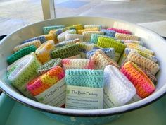 crochet washcloth with soap - Google Search