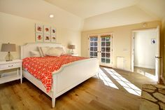 Open, spacious master bedroom