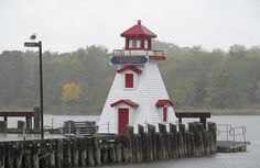 Lighthouse Town Wharf in St. Stephen, New Brunswick