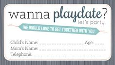sissyprint: Playdate Calling Cards