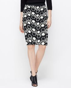 Tall Embroidered Floral Pencil Skirt