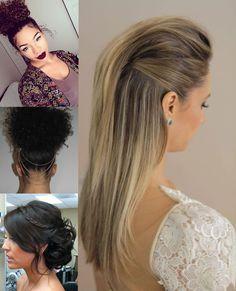 passo a passo hair patricia bonaldi 5 Evening Hairstyles, Unique Hairstyles, Formal Hairstyles, Ponytail Hairstyles, Pretty Hairstyles, Wedding Hairstyles, Glam Hair, Long Wavy Hair, Bridesmaid Hair