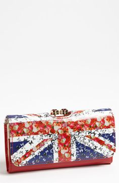 Ted Baker London 'Union Jack Bobble' Matinee Wallet | Nordstrom - This needs to happen.  Immediately.  I gasped.