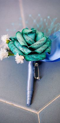 Revamp old pages into a boutonniere.
