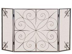 Pilgrim Elements 3 Fold Fireplace Screen - Brushed Bronze