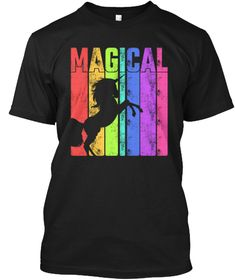 Discover Magical Unicorn Rainbow T-Shirt from Unicorn Tees, a custom product made just for you by Teespring. - Cool Gift Idea for Unicorn Lovers Shirts,. Magical Unicorn, Cool Gifts, Lgbt, Just For You, Rainbow, Shirts, Mens Tops, Black, Rain Bow