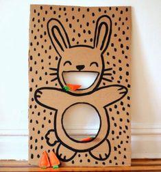 ❤ Nyuszis dobójáték kartonpapírból - répa alakú filc babzsákokkal ❤Mindy - kreatív ötletek és dekorációk minden napra