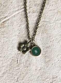 Custom letter initial necklace