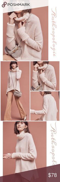 """Anthropologie Fireside Turtle Neck Soft and cuddly wool blend turtleneck by Moth is the go to piece on these cold days. Approx 26"""" length Anthropologie Sweaters Cowl & Turtlenecks"""