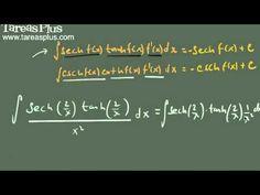 Integral del producto de secante por tangente y cosecante por cotangente hiperbólicas