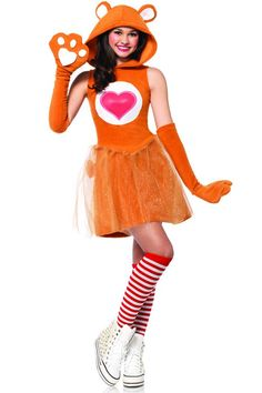 care bear costume Bring out your caring side with this Leg Avenue Care Bears Junior Tenderheart Bear Teen Halloween Costume. It is reminiscent of the soft and cuddly Care Bears plush Care Bears Halloween Costume, Care Bear Costumes, Bear Halloween, Halloween Costumes For Teens, Adult Costumes, Disney Costumes, Mouse Costume, Fairy Costumes, Couple Costumes