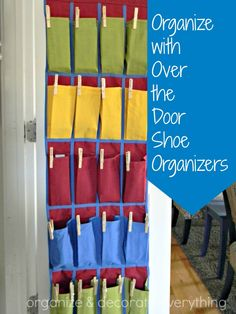 How to organize with over the door shoe organizers via Organize & Decorate Everything