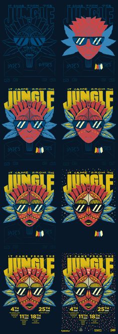 It Came From The Jungle - December 2014 on Behance by Ian Jepson