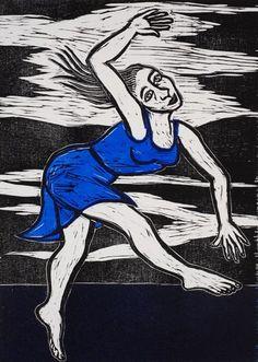 RA Summer Exhibition 2016 work 576: SOLO IN BLUE by Eileen Cooper RA, £700.00. #RASummer