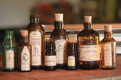 Garrafas de farmácia (etiquetas Vintage) (foto 4)