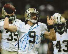 DREW BREES Autographed Hand Signed Saints Football Photo Photograph Saints  Football 9f3559226