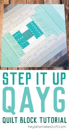 Using the quilt-as-you-go technique, you can make this Step It Up quilt block! Foundation piecing is a fun quilting technique.