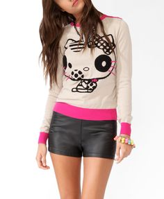 Spotted Hello Kitty® Sweater | FOREVER21 - 2030186175