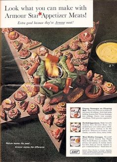 Worst Holiday Meals/Appetizers/Recipes Ever! The Armour Christmas-y Holiday Meat Star! From Hell, I think...or close thereto...Purgatory perhaps?