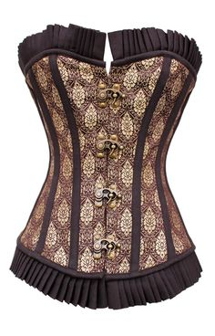 Victorian Dreams - Brocade brown steampunk overbust corsetclasps  I am craving more corsetry...