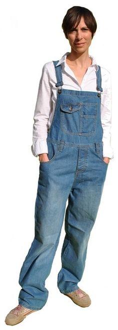 salopette en jean mode vintage