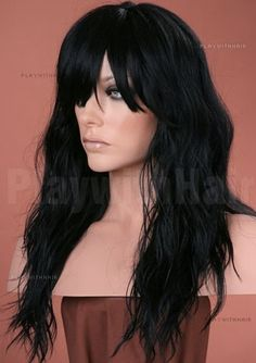 BEAUTIFUL QUEEN// GORGEOUS // Flowing Long Layers Full Wig //  Black