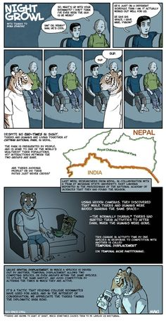Excellent comic about diurnal displacement in Nepal. No, really, go read it - it's cute. =)