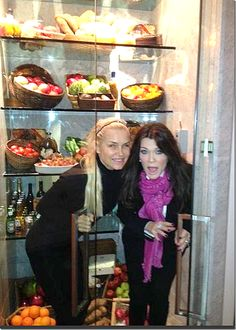 Yolanda Foster (Real Housewives Of Beverly Hills) Having fun in the see-thru refrigerator!!