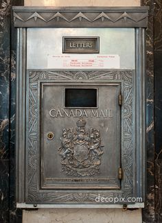 Lovely art deco mailbox from Crescent Building in Montreal. Probably I've passed this and didn't even know…
