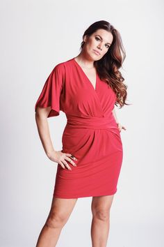 JILLIAN  by Judy Design Winter Fashion 2014, Frocks, Wrap Dress, Fall Winter, Red, How To Make, Canada, Outfits, Dresses