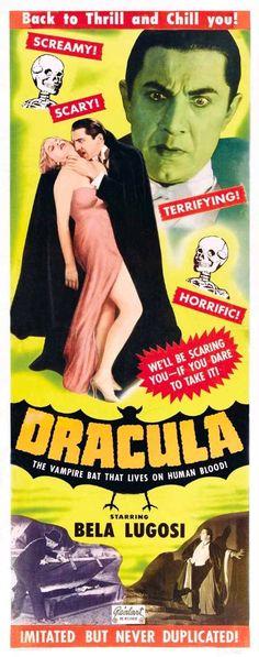 1931: Dracula starring Bela Lugosi, Helen Chandler, David Manners, Dwight Frye, Edward Van Sloan, Herbert Bunston and Frances Dade
