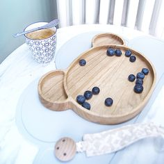 Eco wooden bear plate, BPA free placemats & organic dummy clips in sustainable fabrics bluebrontide.com #organicbaby #ecobaby