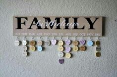 I love this idea for keeping track of our family birthdays.