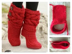 This Cable Slippers Free Knitting Pattern and Video Tutorial is a fashionable way to keep your feet warm during the chilly days. Make one now with the free pattern provided by the link below. Outlander Knitting Patterns, Knitting Patterns Free, Free Knitting, Knitting Socks, Baby Knitting, Crochet Patterns, Knit Slippers Free Pattern, Knitted Slippers, Crochet Shoes