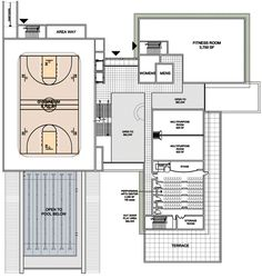 Basketball gymnasium floor plans gurus floor for Basketball gym floor plan