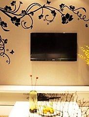 bricolage stickers muraux fleurs des branches d'arbres de décalcomanies murales lavables