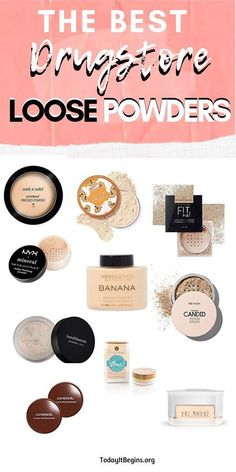 Best Drugstore Loose Settings Powders – Today It Begins The best drugstore makeup loose powders is here! Setting your face with powder is a must-do step for making your base last all day. Best Drugstore Makeup, Drugstore Makeup Dupes, Beauty Dupes, Best Drugstore Setting Powder, Best Drugstore Pressed Powder, Best Drugstore Translucent Powder, Diy Beauty, Rimmel Makeup, Beauty Makeup