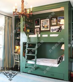 children 's bed - http://zzkko.com/n153808-[1159]-[Boys-Room]-[custom-solid-wood-frniture,-bunk-beds]-HuoChePi-on-the-bed-/-bunk-bed.html $29.53